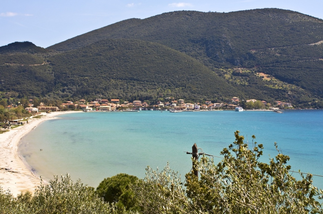 Port of Vasiliki at Lefkada island, Greece